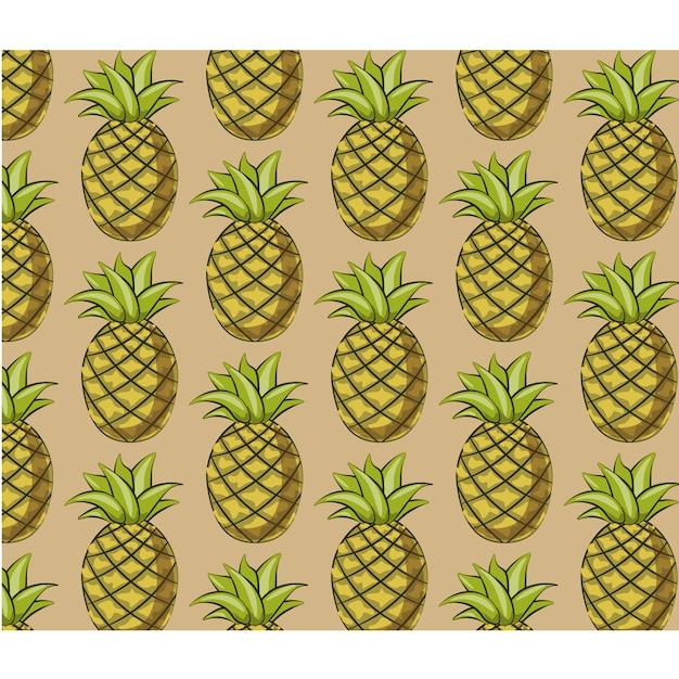 Ananasmuster hintergrund Kostenlosen Vektoren
