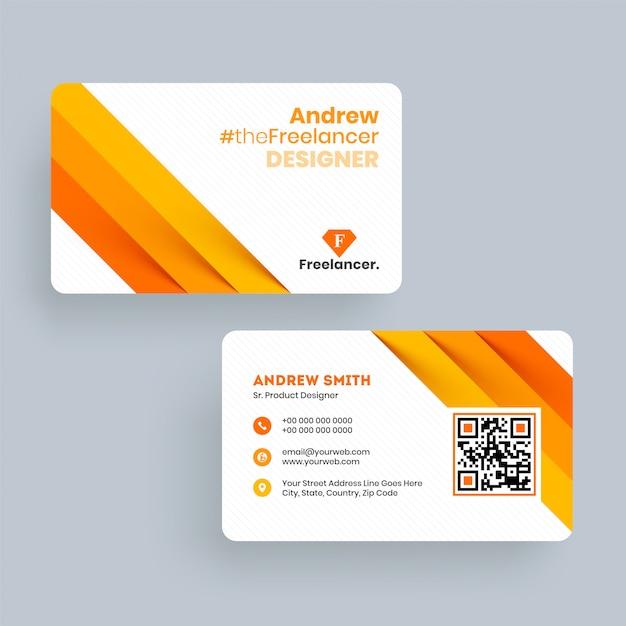 Andrew Freelance Designer Visitenkartenvorlage Oder
