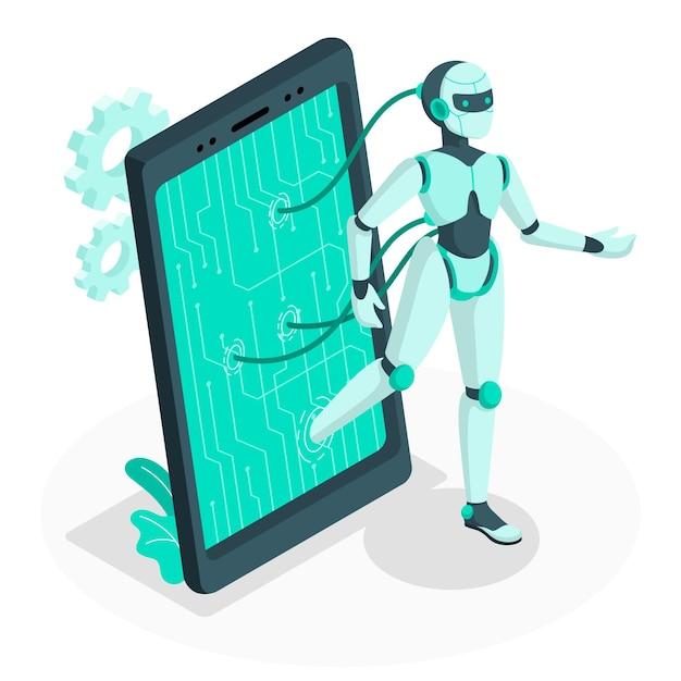Android-konzeptillustration Kostenlosen Vektoren