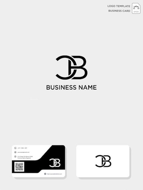 Anfängliche cb- oder bc-kreativlogo-vorlage und visitenkartenvorlage Premium Vektoren