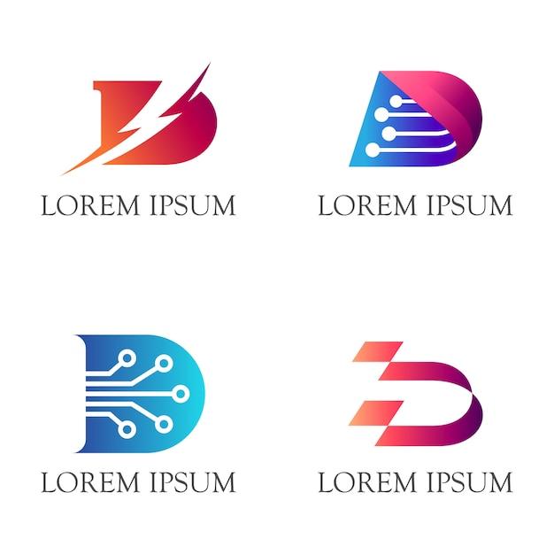 Anfängliches d-logo Premium Vektoren