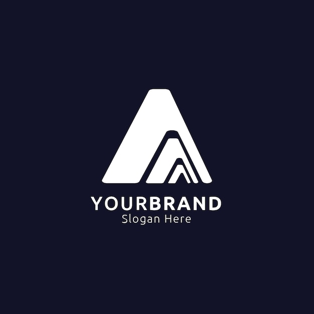 Anfangsbuchstabe a logo. berg-design-konzept für abenteuer, reisen, sport, bekleidung logo. vektor-illustration Premium Vektoren