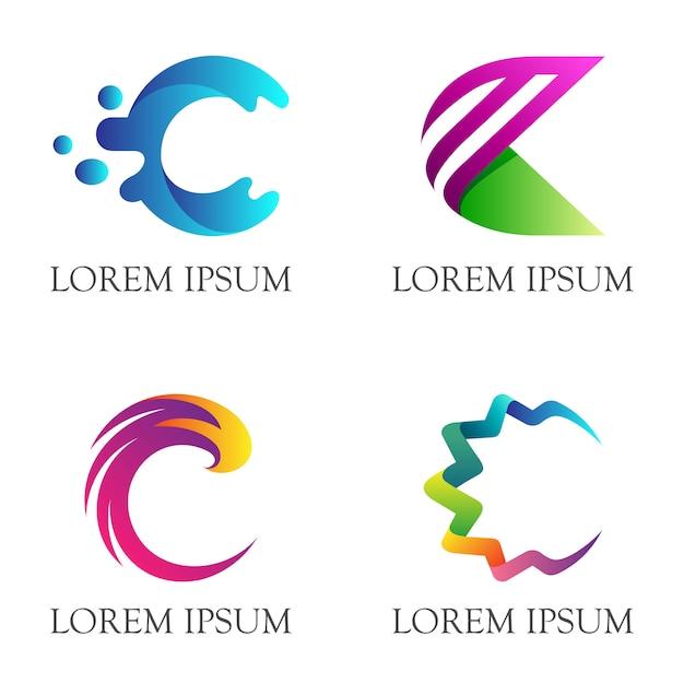 Anfangsbuchstabe c business-logo-design Premium Vektoren