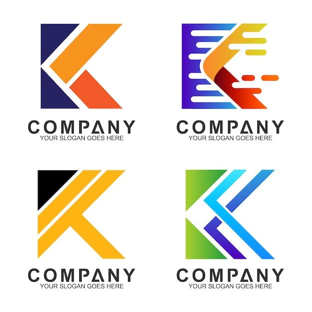 Anfangsbuchstabe k business-logo-design Premium Vektoren