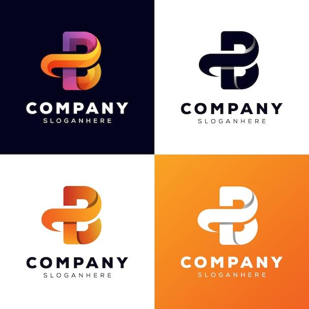 Anfangsbuchstabe pb sammlung logo stilvorlage Premium Vektoren