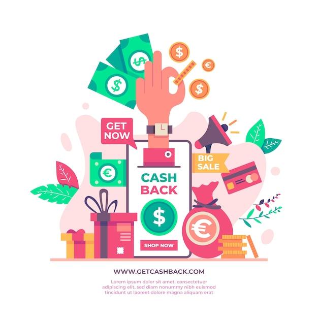 Angebot für cashback-konzept Kostenlosen Vektoren