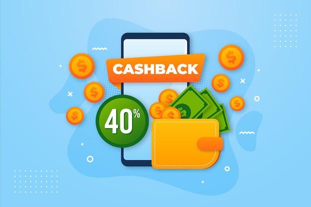 Angebot für cashback-konzeption Premium Vektoren