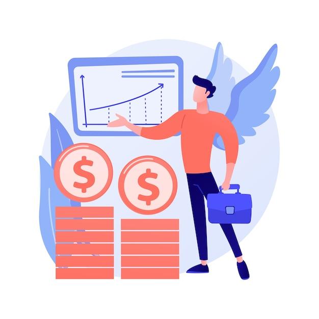 Angel investor abstraktes konzept Kostenlosen Vektoren