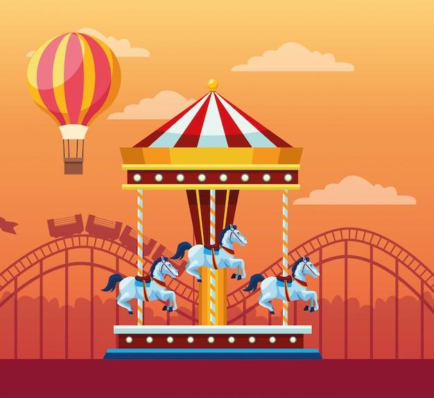 Angemessenes festival mit lustiger anziehungskraft Kostenlosen Vektoren