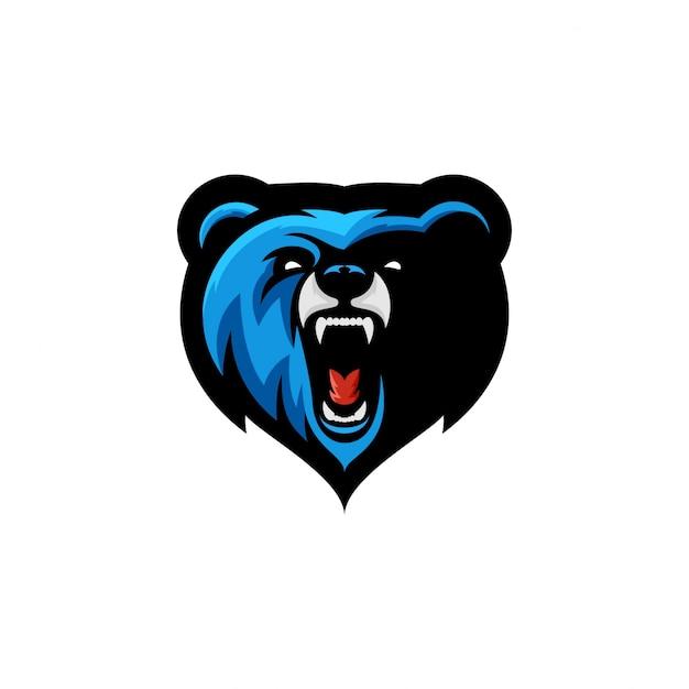Angry bear esports-logo Premium Vektoren