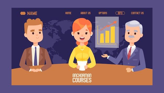 Anker börse kurse website-design. Premium Vektoren