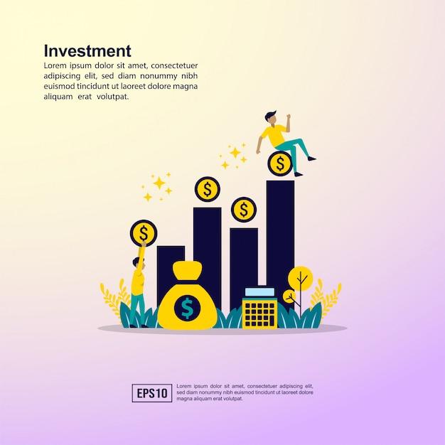 Anlagekonzept Premium Vektoren