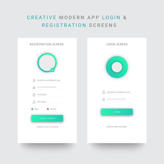 Anmeldeformular für mobile Apps und Registrierung | Download der ...
