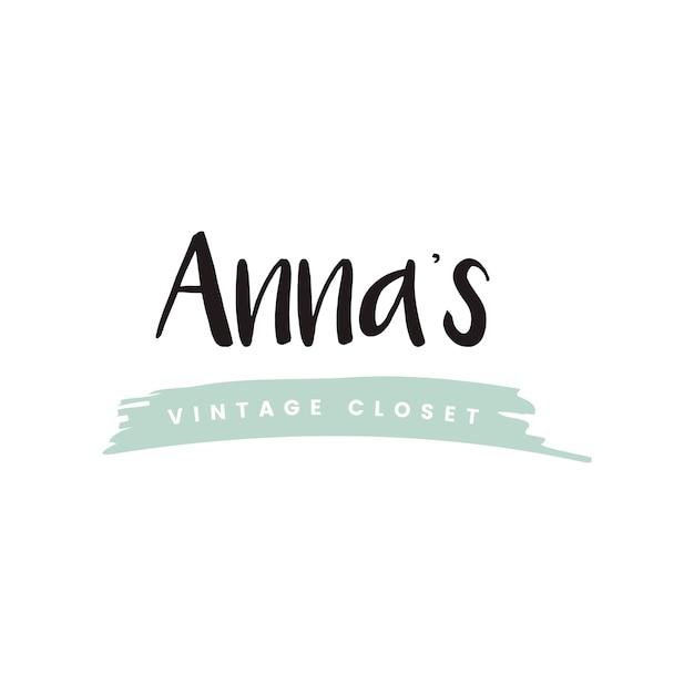 Annas weinleseschrank-logovektor Kostenlosen Vektoren