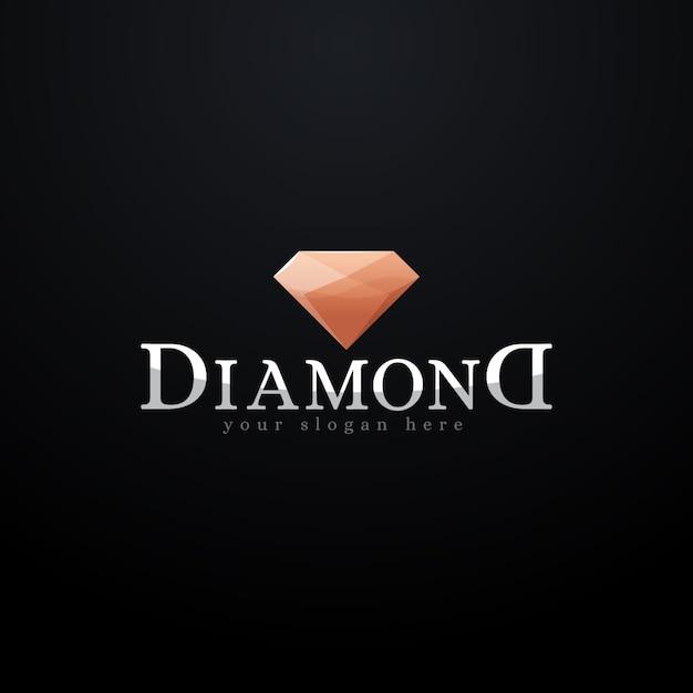 Anspruchsvolles diamant-logo Kostenlosen Vektoren