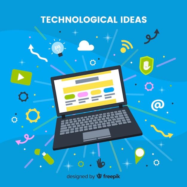 Anti-schwerkraft-technologie mit elementen Kostenlosen Vektoren