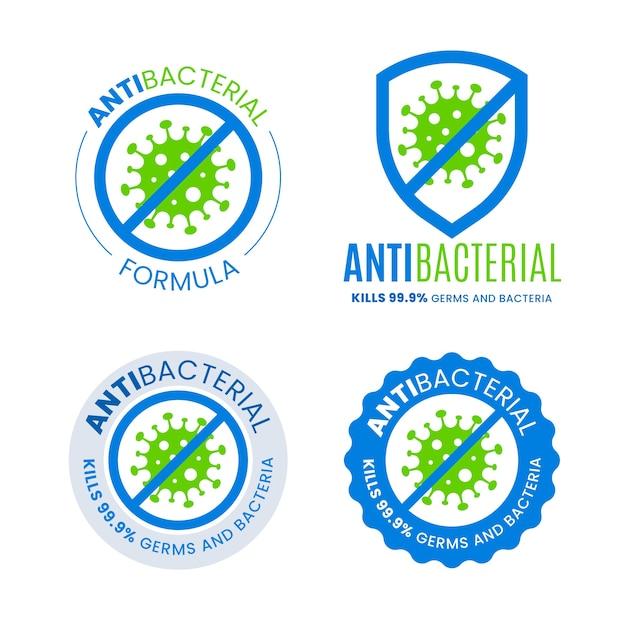 Antibakterielles logo-konzept Premium Vektoren