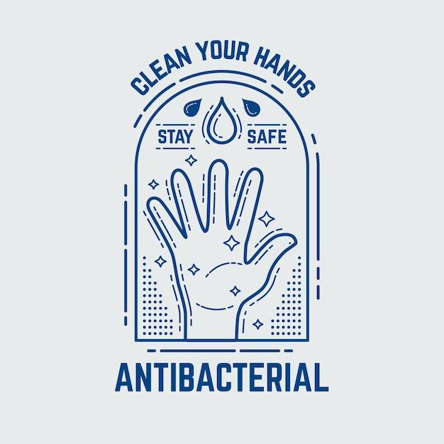 Antibakterielles logo-schablonendesign Kostenlosen Vektoren