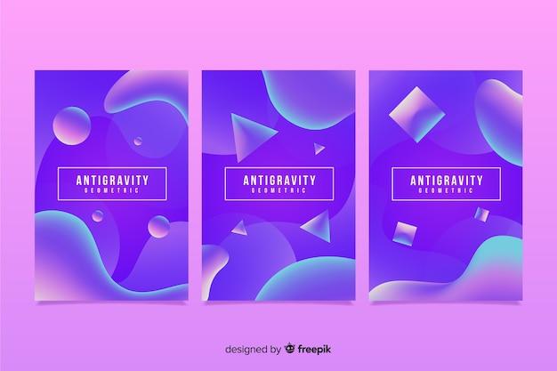 Antigravity-cover-sammlung Kostenlosen Vektoren