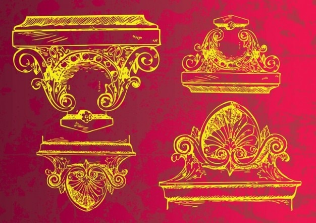 antike dekoration antike dekoration download der kostenlosen vektor