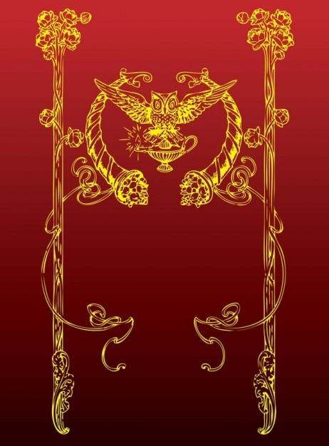 Antike eule dekoration download der kostenlosen vektor for Antike dekoration