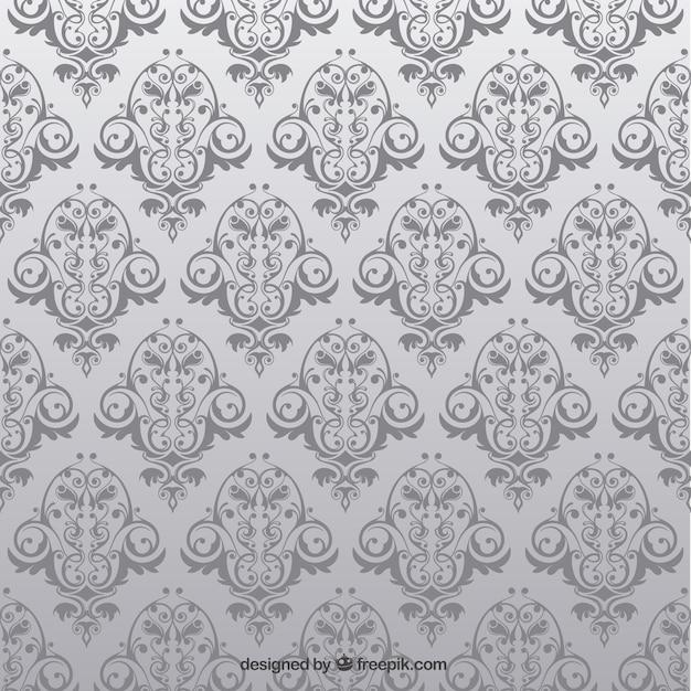 Antike Nahtlose Muster Mit Blumen Download Der