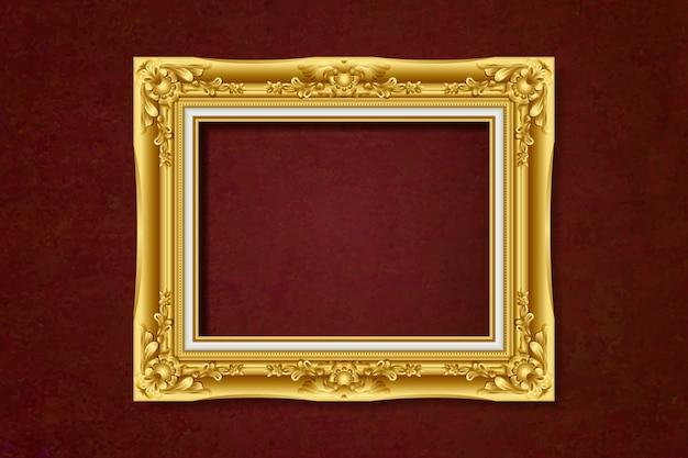 Antiker goldrahmen Kostenlosen Vektoren