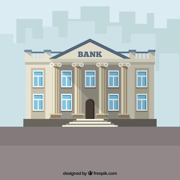 Antique bankgebäude Kostenlosen Vektoren