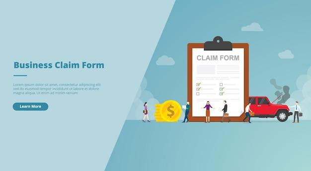 Antragsformular auf dem banner der zwischenablage-website Premium Vektoren