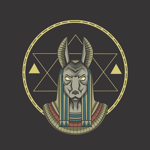 Anubis ägypten Premium Vektoren