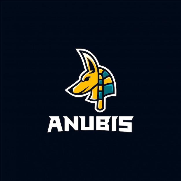 Anubis logo tolle inspiration Premium Vektoren