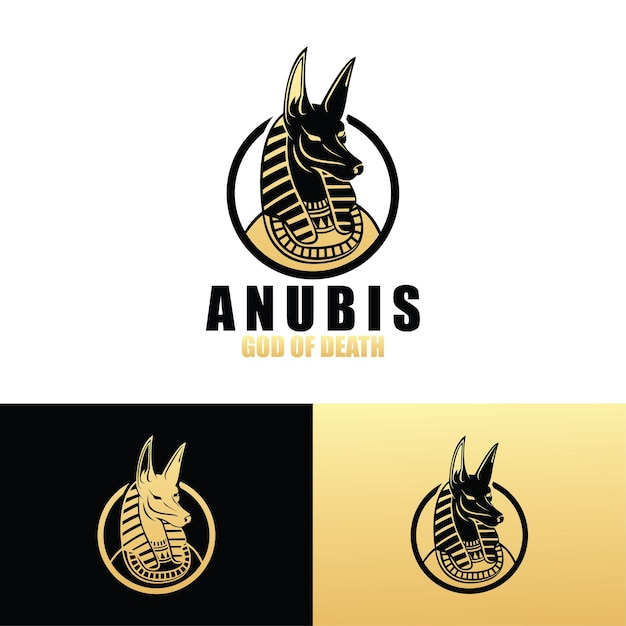 Anubis logo vorlage Premium Vektoren