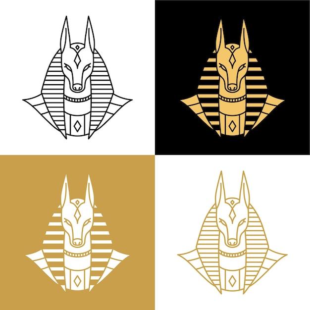 Anubis-logo Premium Vektoren