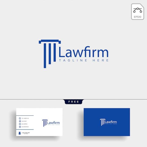 Anwaltskanzlei, befürworten kreative logo-vorlage mit visitenkarte Premium Vektoren