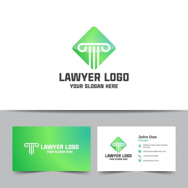 Anwaltskanzlei Logo Und Visitenkarte Vorlage Premium Vektor