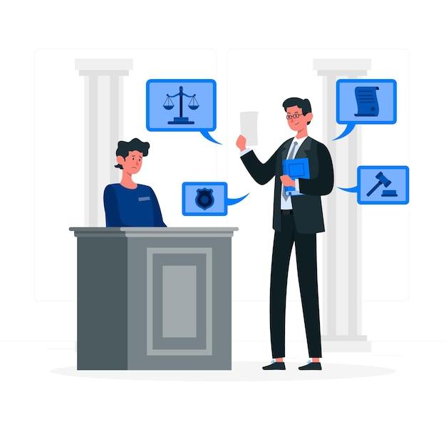 Anwaltskonzeptillustration Kostenlosen Vektoren