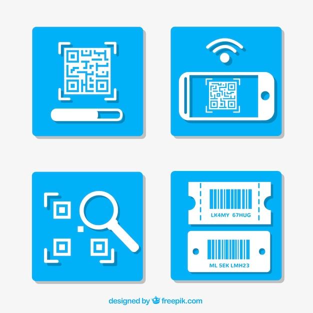 Anweisungen zur verwendung eines qr-codes Kostenlosen Vektoren