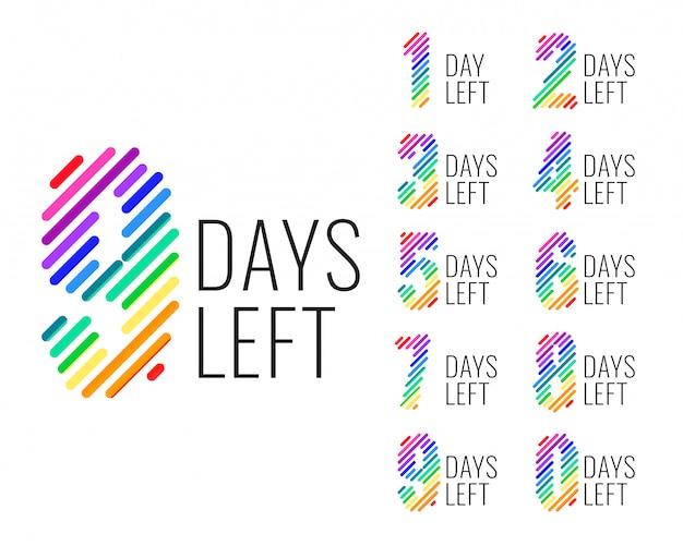Anzahl der verbleibenden tage mit countdown-banner Kostenlosen Vektoren