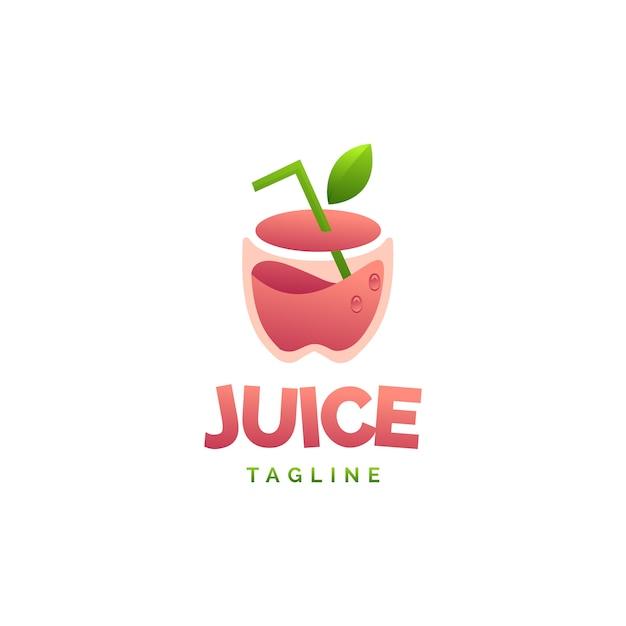 Apfelsaft-logo Premium Vektoren