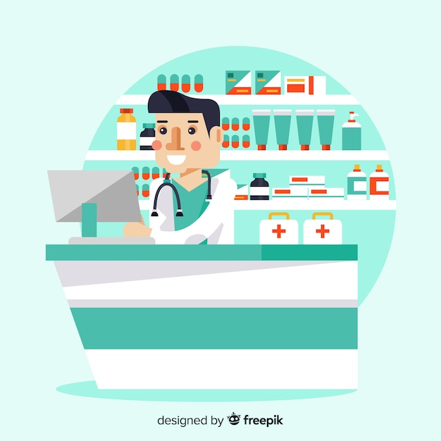 Apotheker Kostenlosen Vektoren