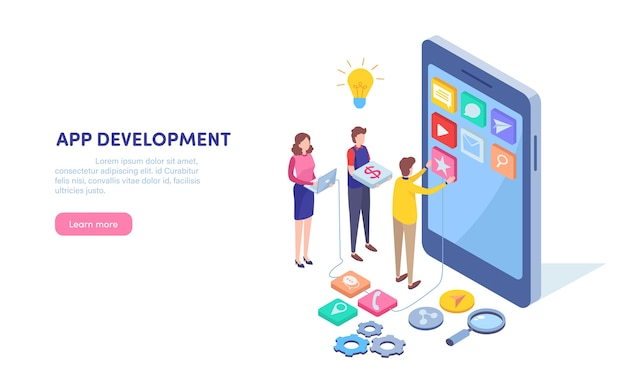 App-entwicklung Premium Vektoren