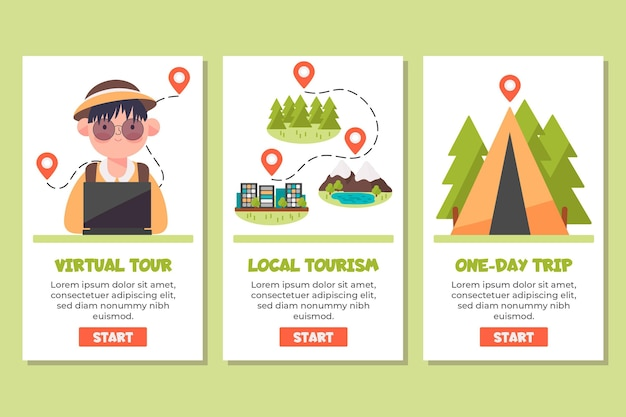 App für lokales tourismuskonzept Kostenlosen Vektoren