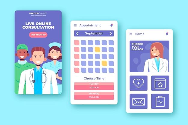 App-stil für medizinische buchung Kostenlosen Vektoren