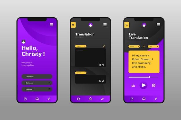 App zum sprachenlernen Kostenlosen Vektoren