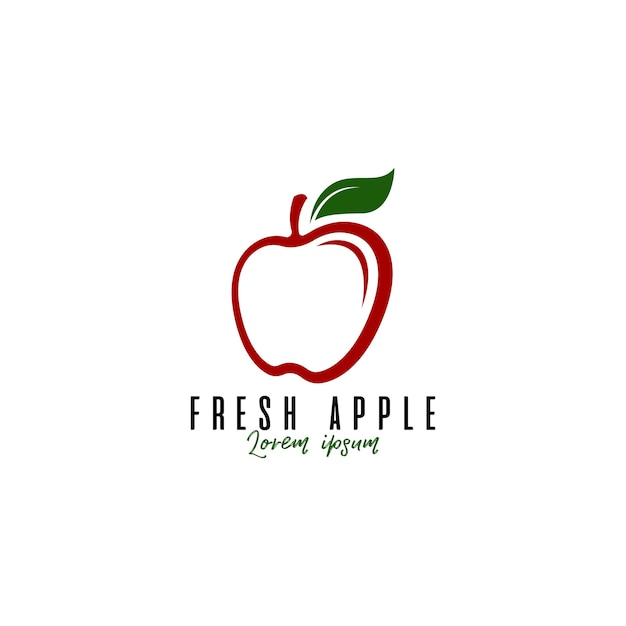 Apple-frucht-logo Premium Vektoren