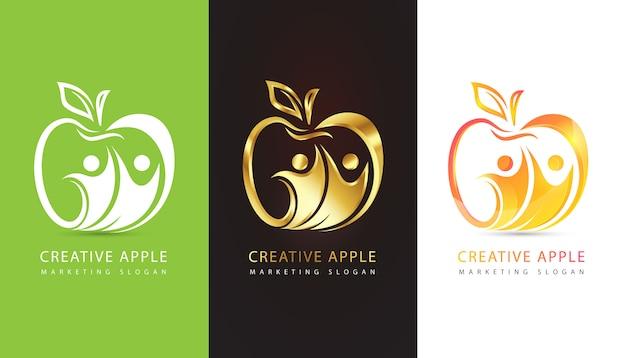 Apple logo eingestellt Kostenlosen Vektoren