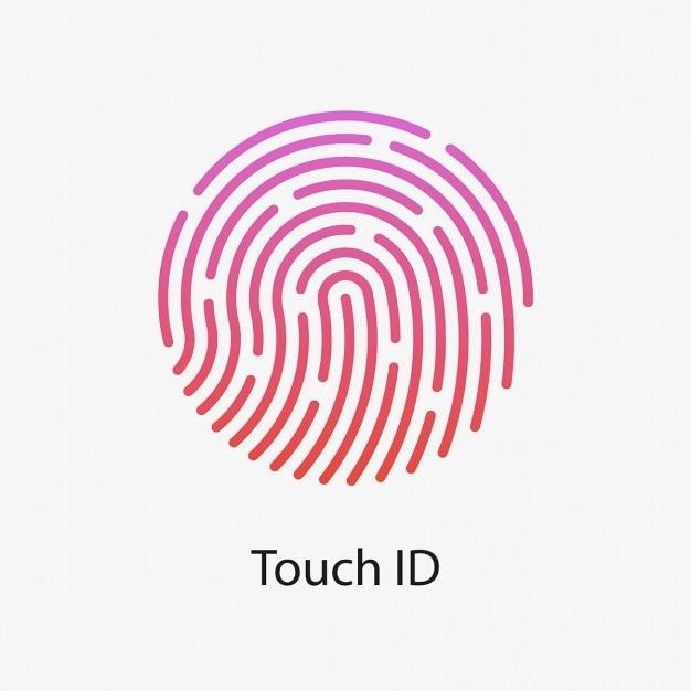Apple-touch-id Kostenlosen Vektoren