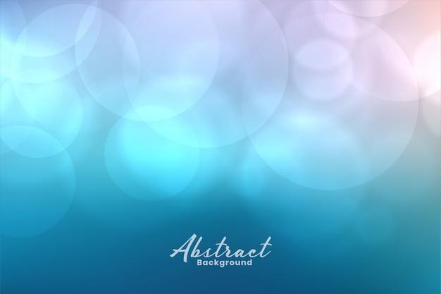 Aqua farbe bokeh licht schönen hintergrund Kostenlosen Vektoren