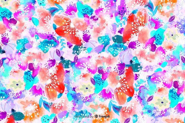 Aquarell abstract floral hintergrund Kostenlosen Vektoren