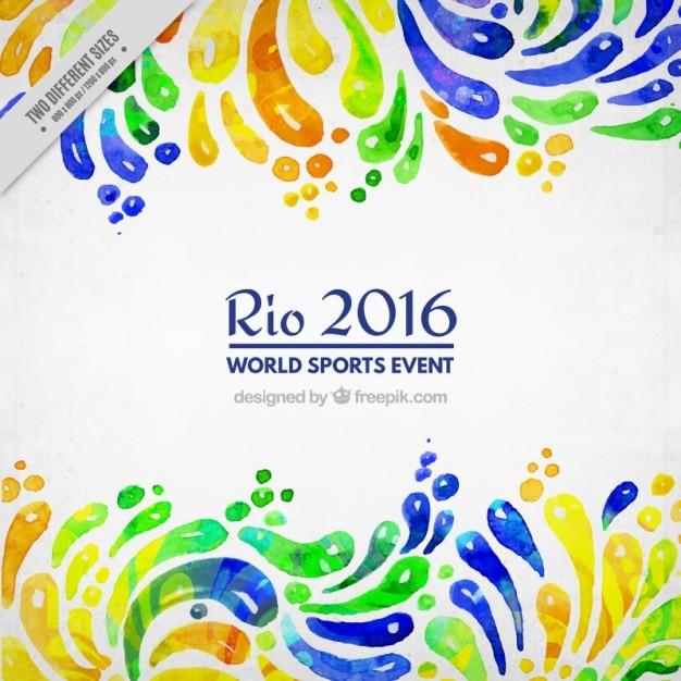 Aquarell abstrakte formen olimpic spiele hintergrund Kostenlosen Vektoren